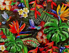 500 Pieces Cardinal Puzzles Tropical Flowers And Birds Jigsaw Puzzle