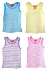 Girls' Crew Neck Striped Vest T-Shirts & Tops (2-16 Years)