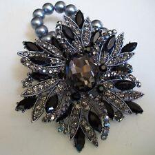 Party Dressy Wear Gray Pearl With Rhinestones Women's Fashion Stretch Bracelet