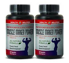 MUSCLE MAKER POWER. Gym Supplement - Premium Bodybuilding Formula 2 Bottles