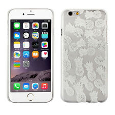 Latest Henna White Pineapple Clear Plastic Case Cover Skin For iphone6 4.7inch