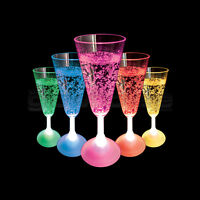 Light Up LED Champagne Glass Flashing Colour Change Party Cup