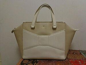 Kate Spade 2 Park Avenue Beau Bag/Tote/Handbag in Caramel and Cream Leather