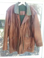 Original Timber von TiPel M.Flues Motorcycle Leather Bomber Jacket LARGE Germany