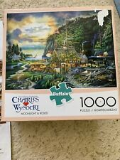 Charles Wysocki Puzzle - Moonlight And Roses In Old Maine - 1000 Piece Americana