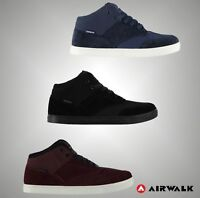 Mens Branded Airwalk Casual Lace Up Breaker Mid Skate Shoes Trainers Size 7-12