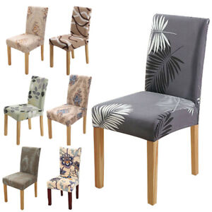 Spandex Floral Print Elastic Slipcover Chair Cover Dining Room Wedding Decor