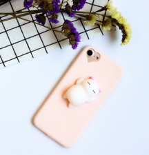 Squishy 3D Anti Stress Lazy Cat Soft Rubber Phone Case Cover F iPhone 5 6 7 PLUS