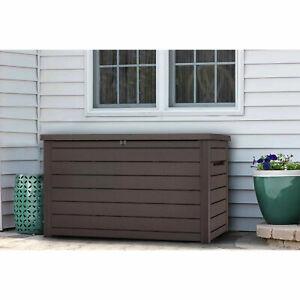 Keter XXL 230 Gallon Plastic Deck Storage Container Box Outdoor Patio Garden Fur