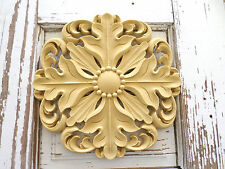 Architectural Antique Rosette Furniture Applique Wood Resin Vintage Look *New*