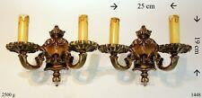 2 St. Wandleuchter Kerzenleuchter Kerzenhalter Kandelaber 2- flammige Bronze