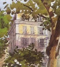 "Watercolor Print MAISON ST GERMAIN PARIS Restoration Hardware "" Antique Style"""