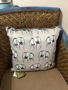Elephant Animal Print Decorative Cushions For Sale Ebay
