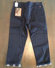 Dickies Mens Flannel Lined Work Pants Classic Fit Blue Size 42 x 32 NWT