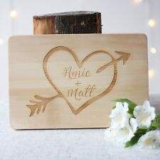 Heart & Arrow Personalised Engraved Wooden | Anniversary Gifts | Wedding Gifts