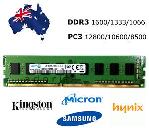 4GB DDR3 Desktop RAM Memory PC3 1600 1333 DIMM 12800 10600 Various Brands