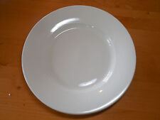 "Pottery Barn OFF WHITE WIDE RIM HEAVY Dinner Plate 12 1/2"" 1 ea     4 available"