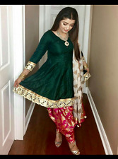 Punjabi Patiala pakistani Design Indian SALWAR KAMEEZ wedding wear stitched suit