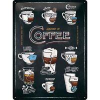 Coffee Kaffee Anatomy Nostalgie Blechschild 40 cm NEU  shield