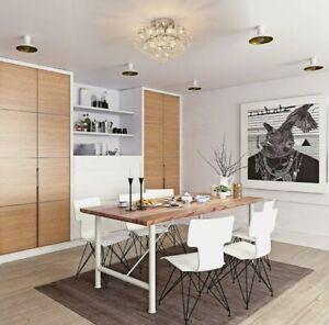 &  30x30cm K9 Crystal Droplets Dining Room Ceiling Pendant Light Silver  32!21