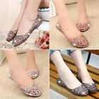 Women Slip On Sliders Hollow out Flat Diamante Sandals Jelly Mesh Shoes Sizes