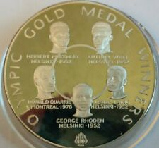 1980 Jamaica $25 Dollar silver proof coin,  Olympic Gold Medal Winners,  136 g