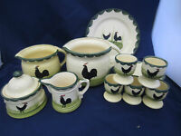 Zell Zeller Keramik Hahn und Henne -  Einzelteile bitte wählen Sie aus