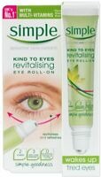 Simple Revitalising Eye Roll On 15ml Kind To Eye Gel Cream Balm Anti-Wrinkle