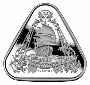 2021 Australia Shipwreck Series Zeewijk Triangular 1 oz Silver $1 BU