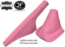 PINK ITALIAN LEATHER FOR VW GOLF MK4 4 IV BORA 98-05 GEAR&HANDBRAKE GAITERS