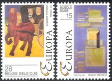 Belgium 1993 Europa/Contemporary Art/Abstract/Modern/Horse/Transport 2v (n43245)