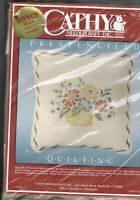 Cathy Needlecraft Quilting Pillow Basket of Flowers Kit No. 7381 NIP