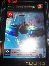 SWCCGYJ CCG YOUNG JEDI REFLECTIONS FOIL MINT SUPER RARE 60 VICEROY'S BATTLESHIP