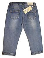 Pantacourt Femme Jeans 5 Poches Taille Haute  36 au 50 Extensible Confortable !