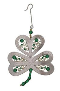 Pilgrim Imports Handmade Ornament Emerald Shamrock Ornament 9630446