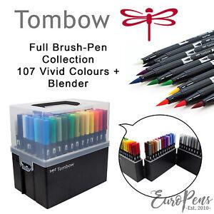 Tombow ABT Dual Brush pen / Double Ended Artist Pens - 107 Colours and Blender!