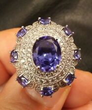 Cz- Ladies Ring In Size 5 1/2 Vanna K For Bella Luce- Sterling Silver-