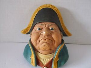 BOSSONS  MR. BUMBLE  CHALKWARE CHARACTER HEAD