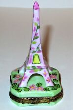 LIMOGES BOX - PINK FLORAL EIFFEL TOWER - SPRING FLOWERS - PARIS - LE 102/1000