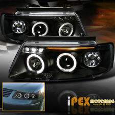 New 1997-2000 VW Passat B5 Dual Halo Projector LED Black Headlights Signal Light