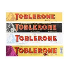 4 x TOBLERONE Variety Pack Flavor Mix White Dark Milk Fruit & Nut Chocolate Bars