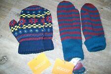 Gocco-Lot de 2 paires de moufles. S/M (5/6y). Acrylique. Bnwt