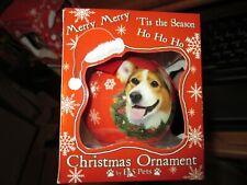 E & S Pets Christmas Ornament-Orn Welsh Corgi-Nib!
