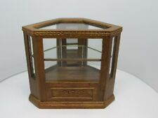 Dollhouse Miniatures, Shop Corner Display Case, Bespaq, Oak Finish, 1/12 Scale