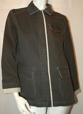 The Territory Ahead Black Denim Design Jacket Sz M