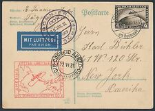DOX FLIGHT COVER DO4b WITH GERMANY #C37 TO NEW YORK JAN 30,1931 BR1305