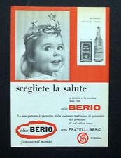 C746 - Advertising Pubblicità- 1959 - OLIO BERIO SCEGLIETE LA SALUTE