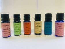 6 x 10ml Synergy 100% Essential Oils. Moods, multi oil blends, Diffusers,Zephair