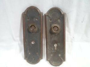 2 stamped brass door back plate ,great deal!!!  Nice!!!!