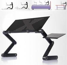 360° PC Laptop Notebook Schreibtisch Computertisch Klapptisch Schwarz Betttisch